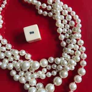 J. Crew 4 Strand Pearl Necklace
